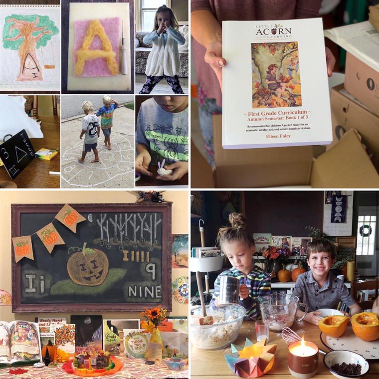 Autumn Semester Print & Digital Version - First Grade Curriculum - Series 1 of 3 Books