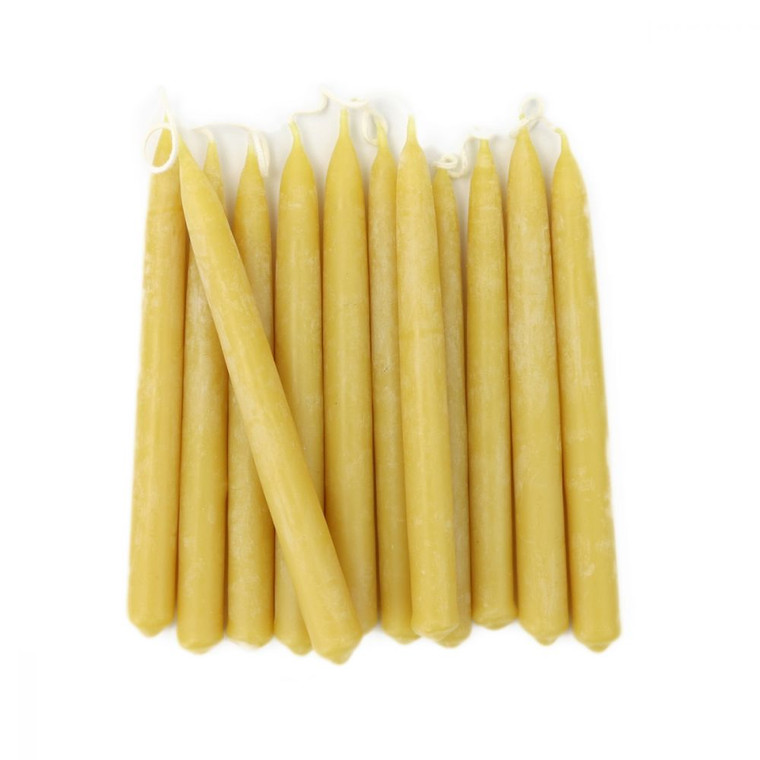 """Hand Dipped Pure Beeswax Taper Candles 5"""""""
