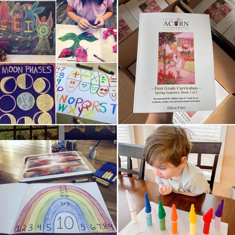 Spring Semester Print & Digital Version - First Grade Curriculum - Series 3 of 3 Books