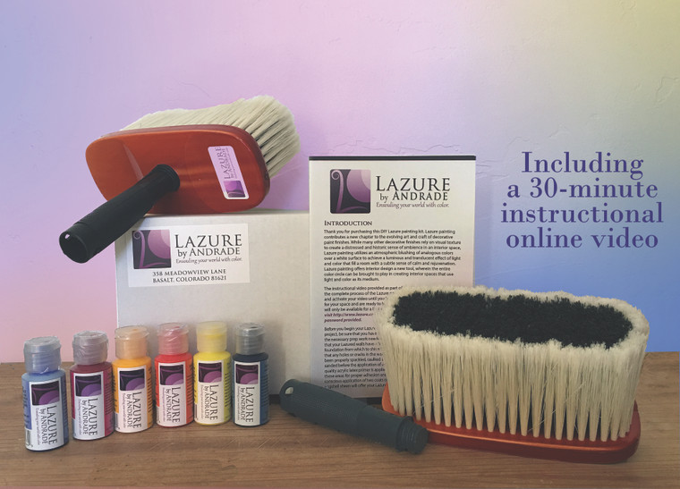 DIY Lazure Home Painting Kit with 30 Minute Online Instructional Course