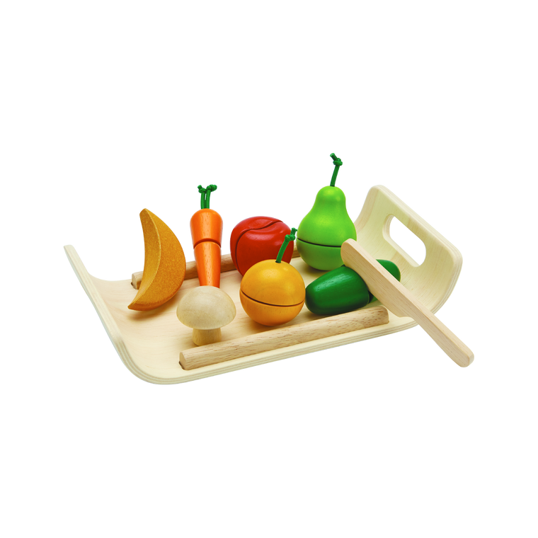 Assorted Fruits and Veggie - Wooden Pretend Play