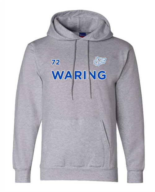 Waring Wolf Pack Recycled Poly Pullover Hood Champion