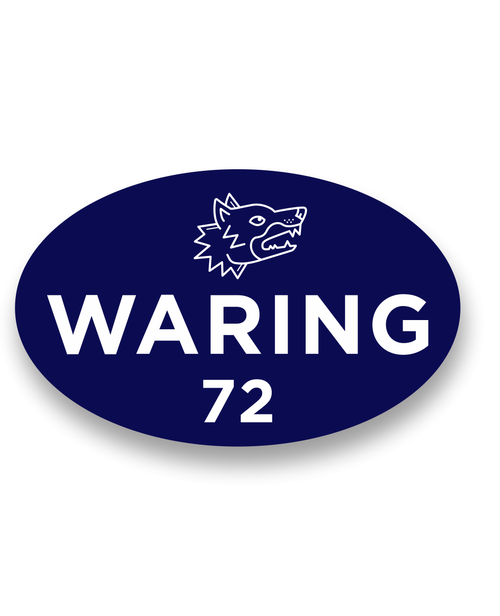 Waring Athletics Oval decal