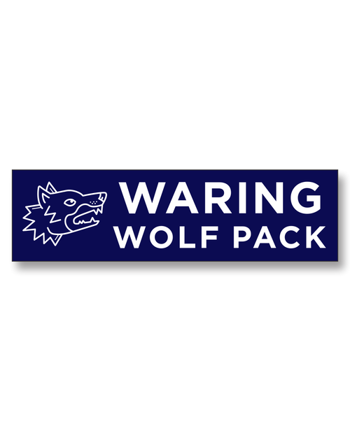 Waring Wolf Pack decal