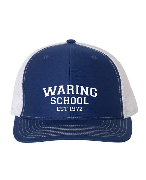 Waring School Retro trucker hat.