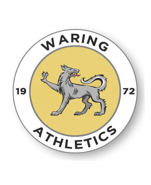 Waring Athletics Retro Decal