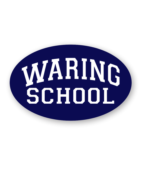 Waring School Oval  decal