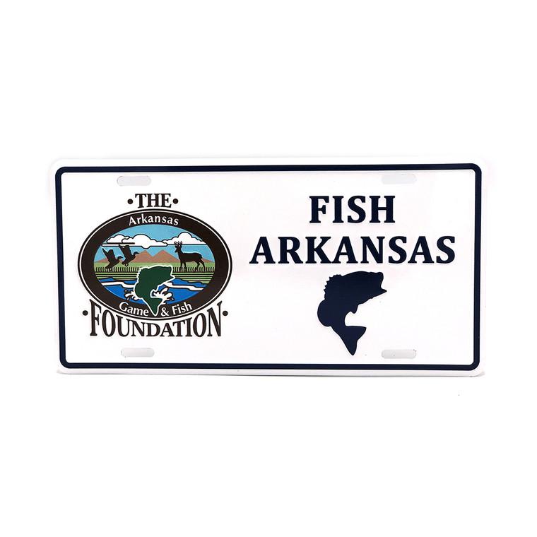 Fish Arkansas License Plate - Bass
