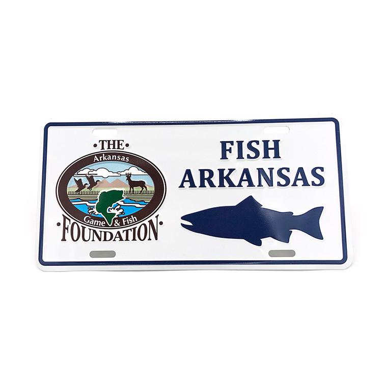 Fish Arkansas License Plate - Trout