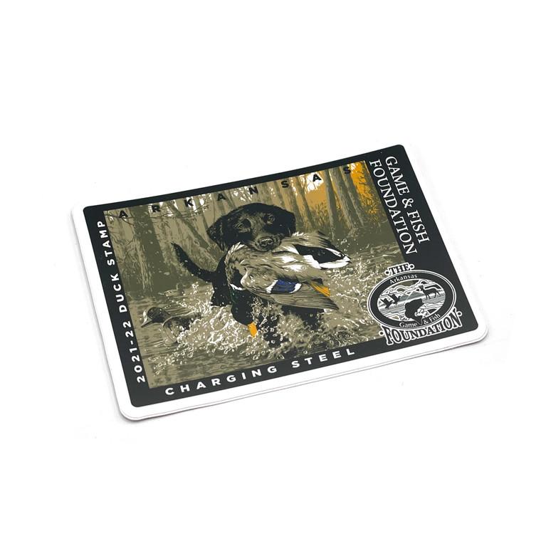 Charging Steel Stamp Sticker
