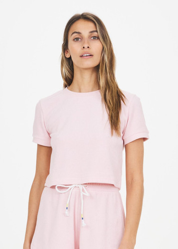 The Upside - Florencia Crop Tee - Dusty Rose