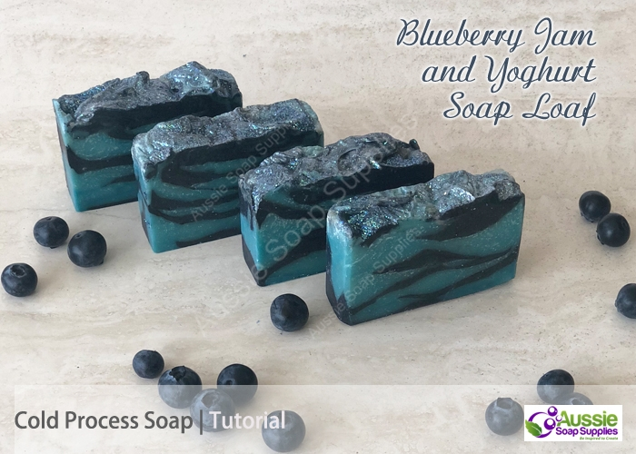Blueberry Jam and Yoghurt Cold Process Soap