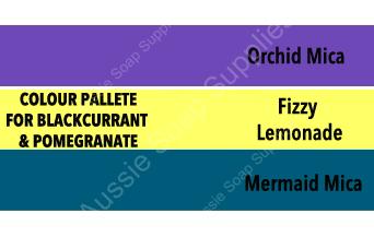 Blackcurrant & Pomegranate Faux Funnel Cold Process Soap Log