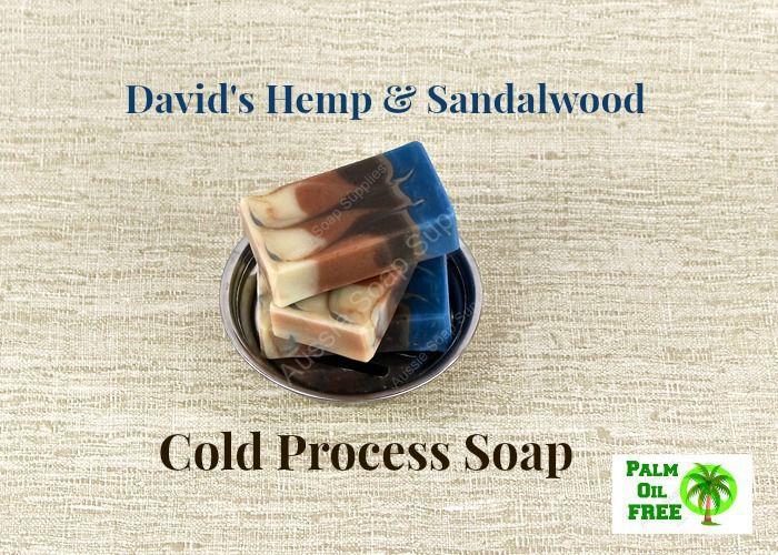 David's Hemp and Sandalwood Infinity Swirl Cold Process Soap
