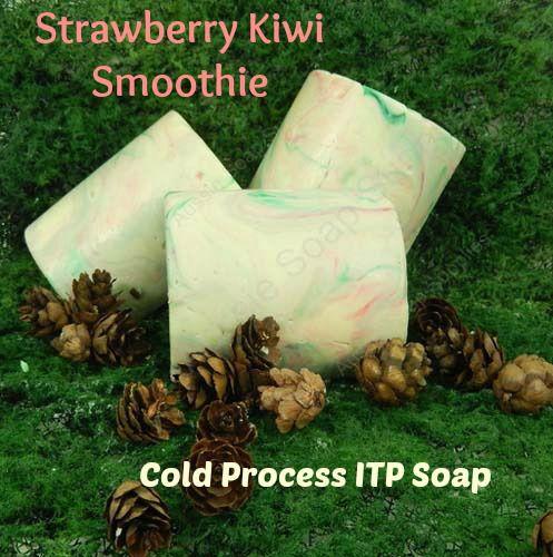 Strawberry Kiwi left over soap swirled