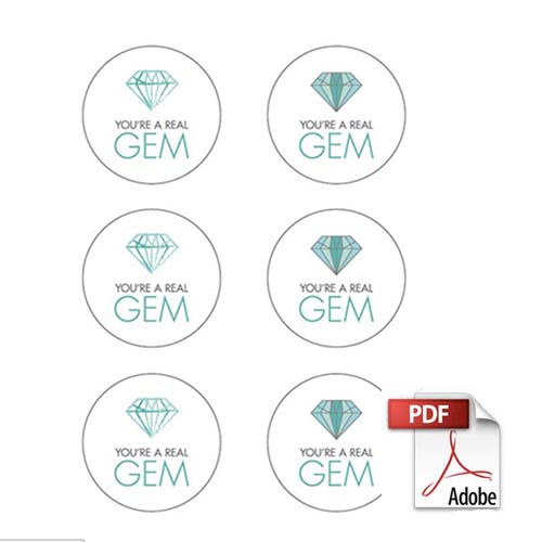 Gemstone Free PDF Labels