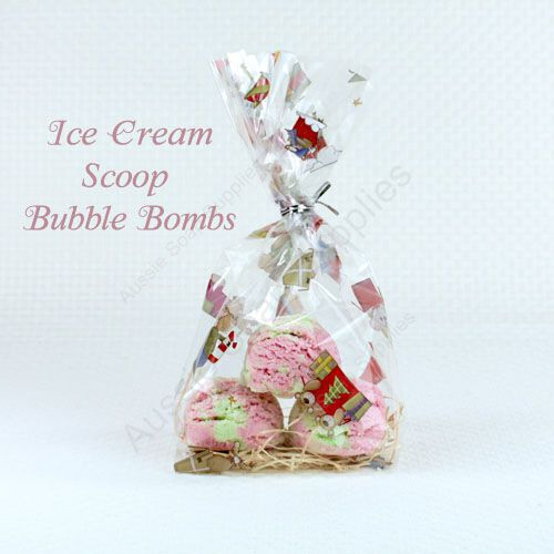 Foaming Ice Cream Bath Bombs