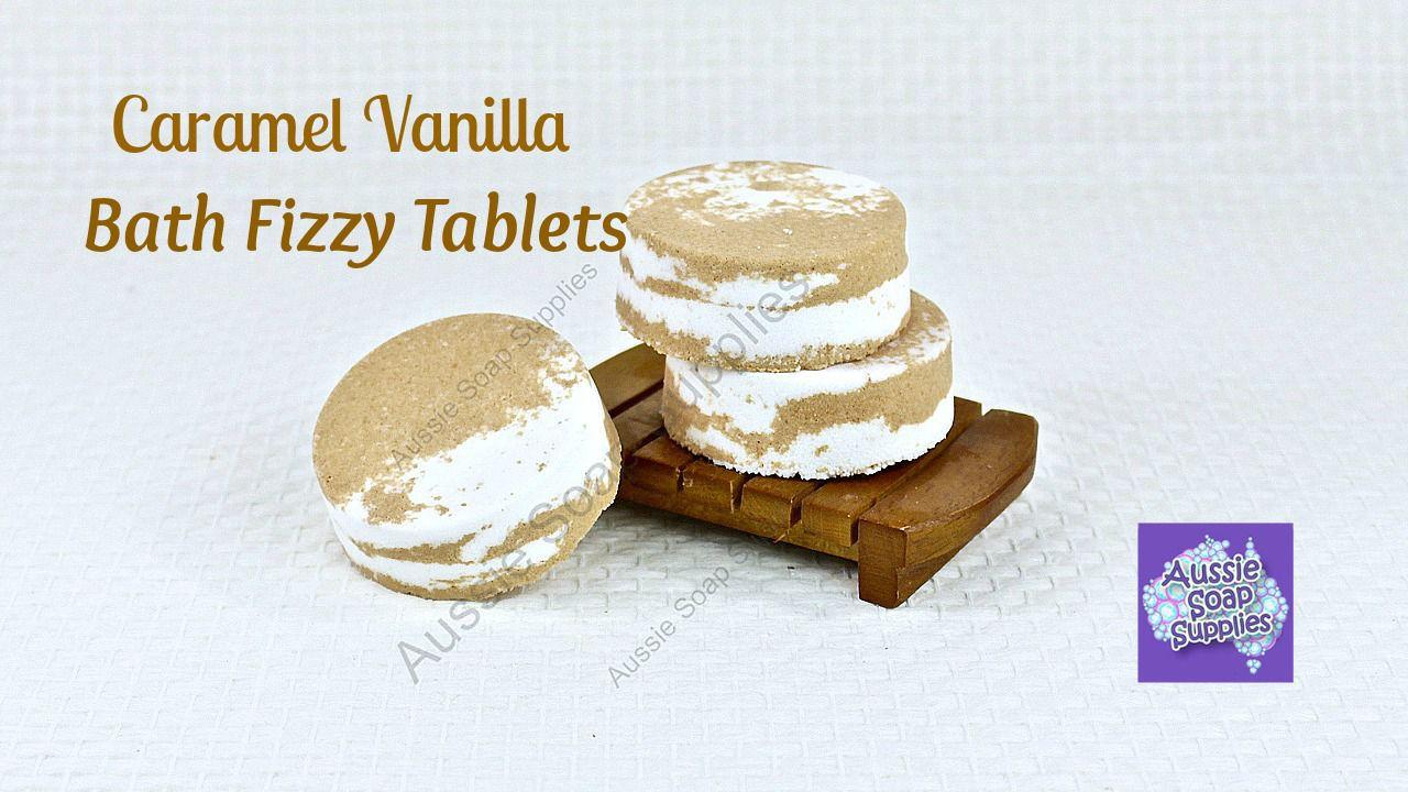 Caramel Vanilla Bath Fizzy Tablets