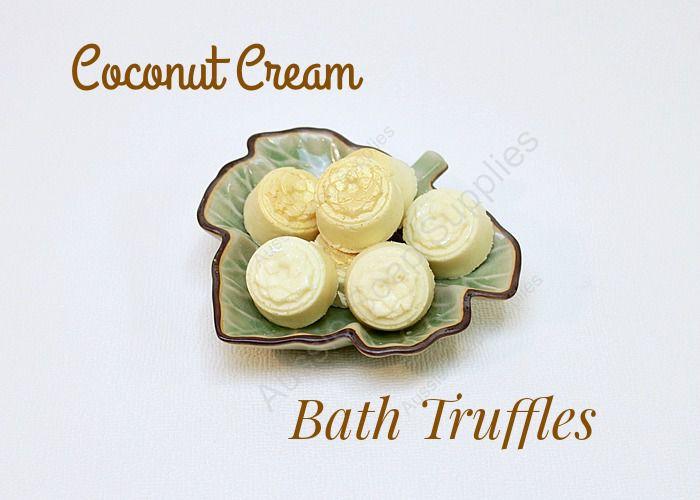 Coconut Cream Bath Truffles
