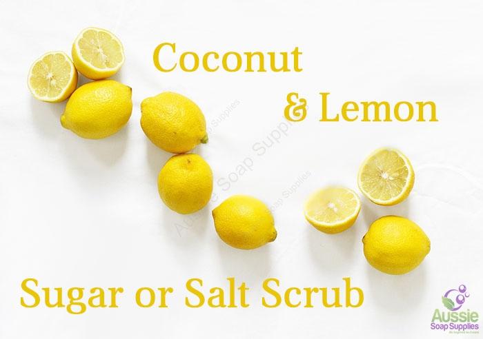 Coconut Lemon Sugar Salt Scrub