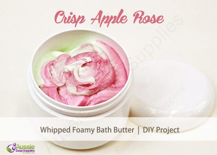 Crisp Apple Rose Foamy Whipped Soap