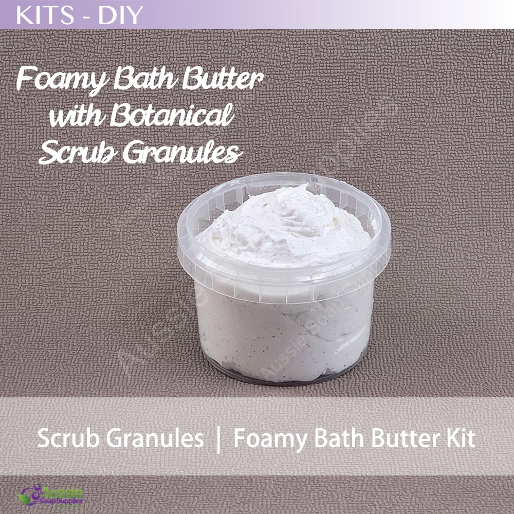 Foamy Bath Butter Soap with Botanical Scrub Granules