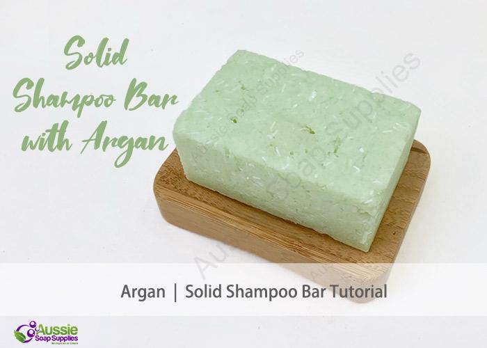Shampoo Bar Recipe with Argan Oil Tutorial