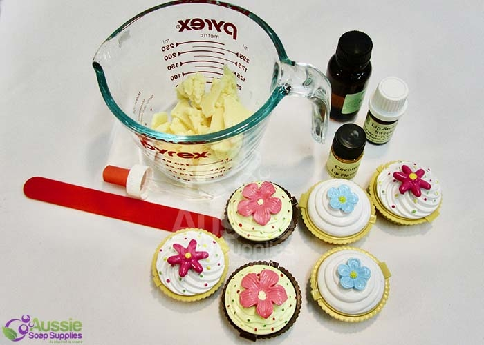 Easy Melt and Pour Cup Cake Lip Balms