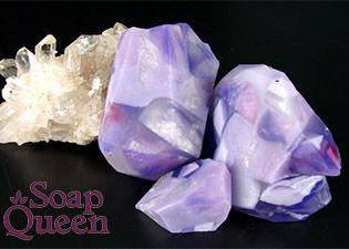 Melt and Pour Soap Free Form Amethyst Crystal Tutorial