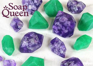 Soap Queen making Crystal Melt and Pour Soap