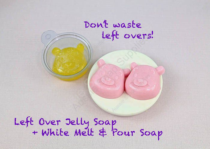 Using left over jelly soap