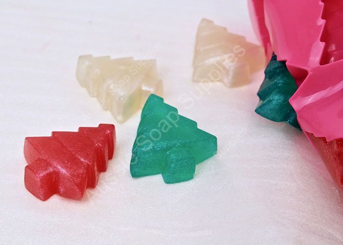 Sparkling Snowflake Jelly Soap Christmas Trees