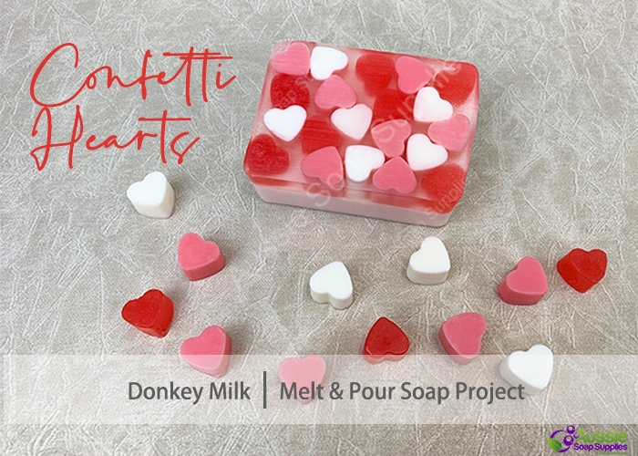 Confetti Hearts Melt and Pour Soap DIY