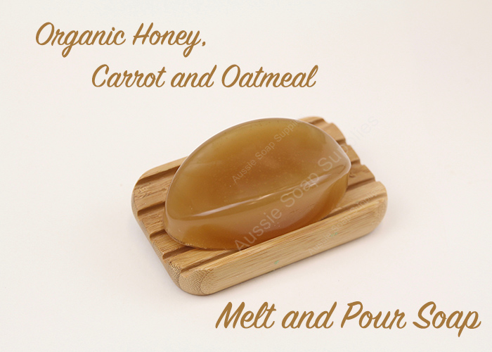 Organic Honey, Carrot and Oatmeal Melt and Pour Soap