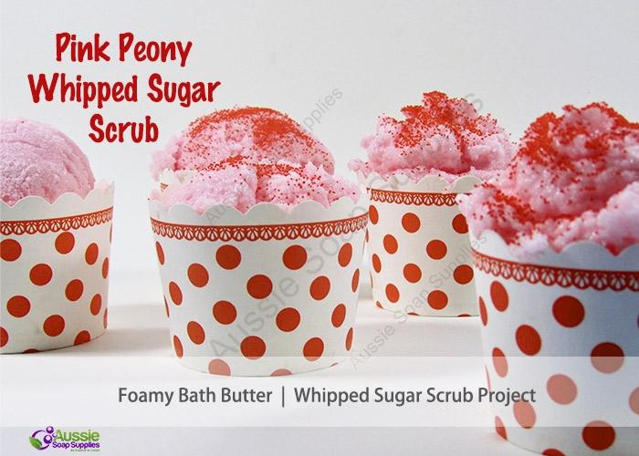 Pink Peony Whipped Foamy Bath Butter Scrub