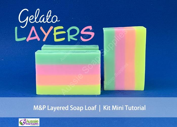 Melt & Pour Soap Soap Kit Gelato Layers Mini Tutorial