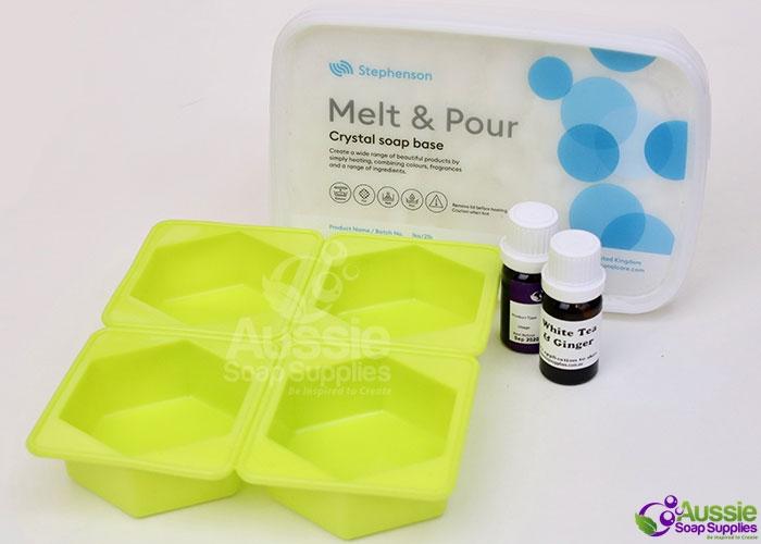 Oatmeal Melt and Pour Soap Kit Mini Tutorial DIY