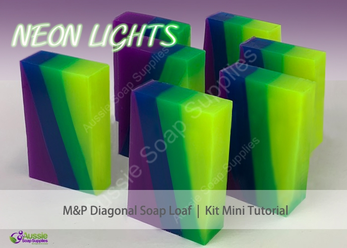 Melt & Pour Soap Soap Kit Neon Layers Mini Tutorial