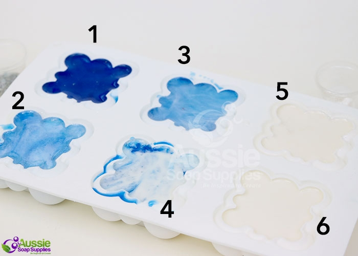 Puffy Clouds In the Mould Swirl Melt and Pour Soap DIY