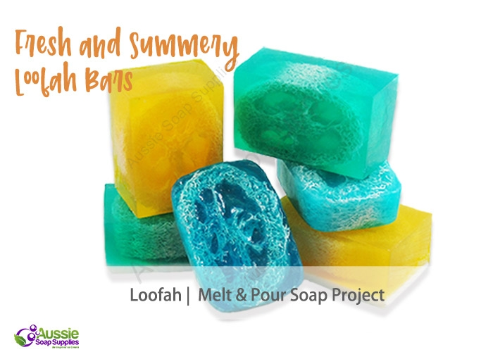 Fresh and Summery Loofah Melt & Pour Soaps