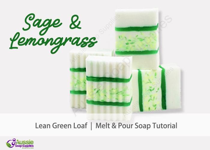 Lean Green Sage & Lemongrass Melt and Pour Soap DIY Loaf