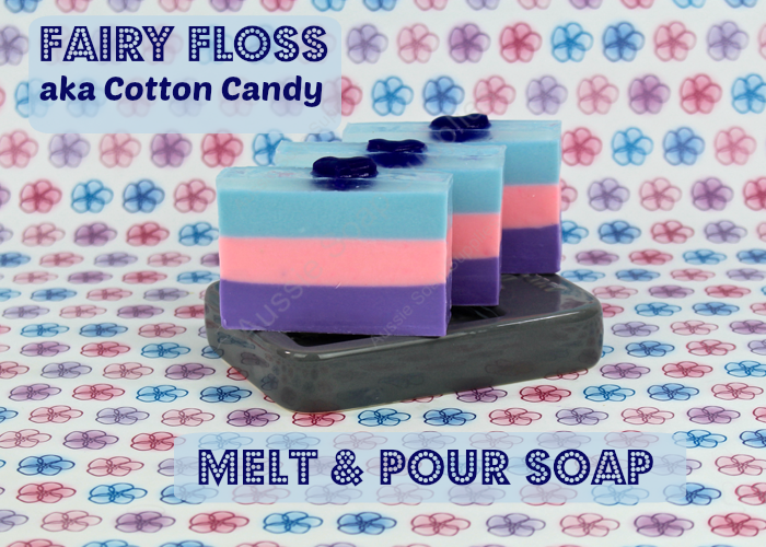 Fairy Floss Melt and Pour Soap Loaf
