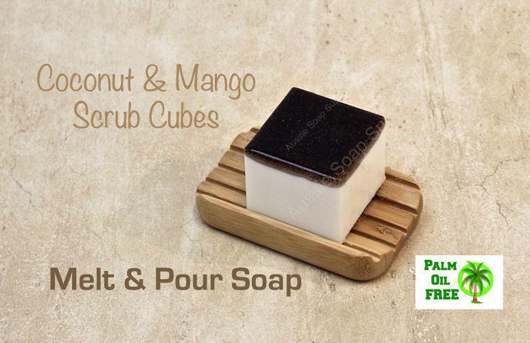 Coconut Mango Palm Free Scrub Cubes