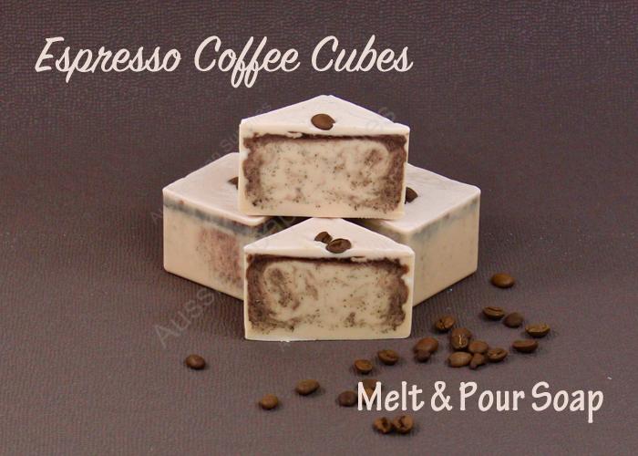 Espresso Coffee Cubes Melt and Pour Soap Tutorial
