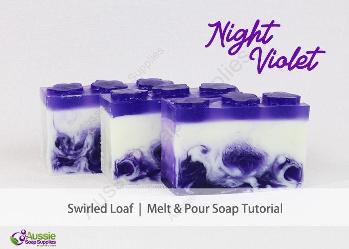 Melt & Pour Soap Night Violet Loaf Tutorial