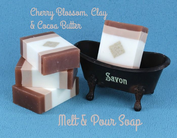 Cherry Blossom and Clay Cocoa Butter Melt and Pour Soap