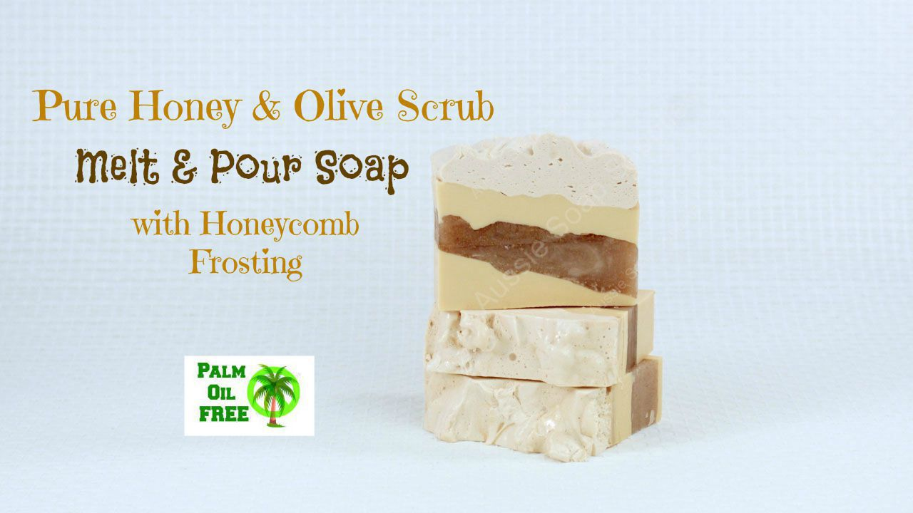 Honeycomb & Olive Palm Free Melt and Pour Soap Loaf