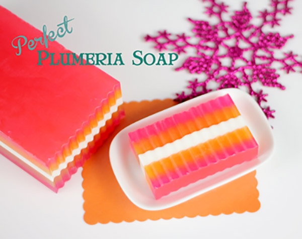 Perfect Plumeria Melt and Pour Soap Loaf