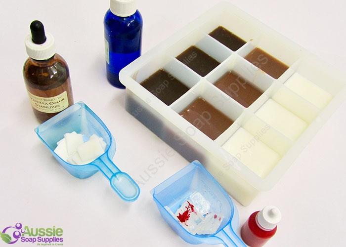 Chocolate Fudge Squares Melt and Pour Soap