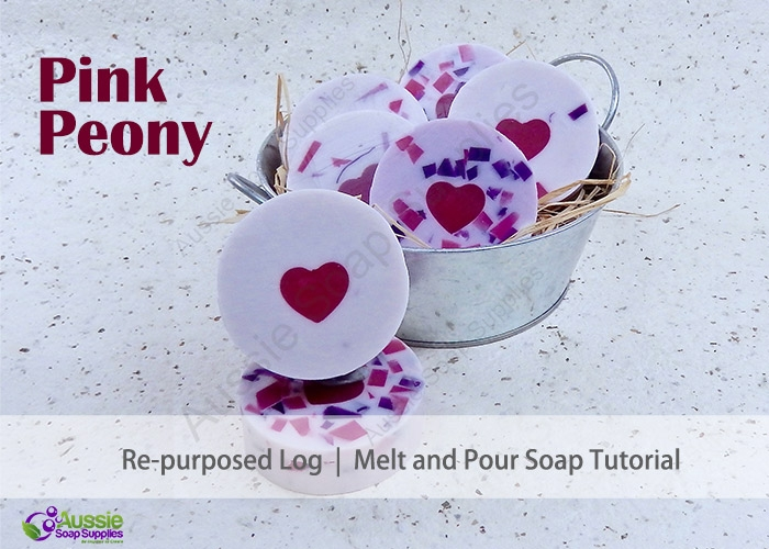 Pink Peony Re-Purposed Melt and Pour Soap DIY Project